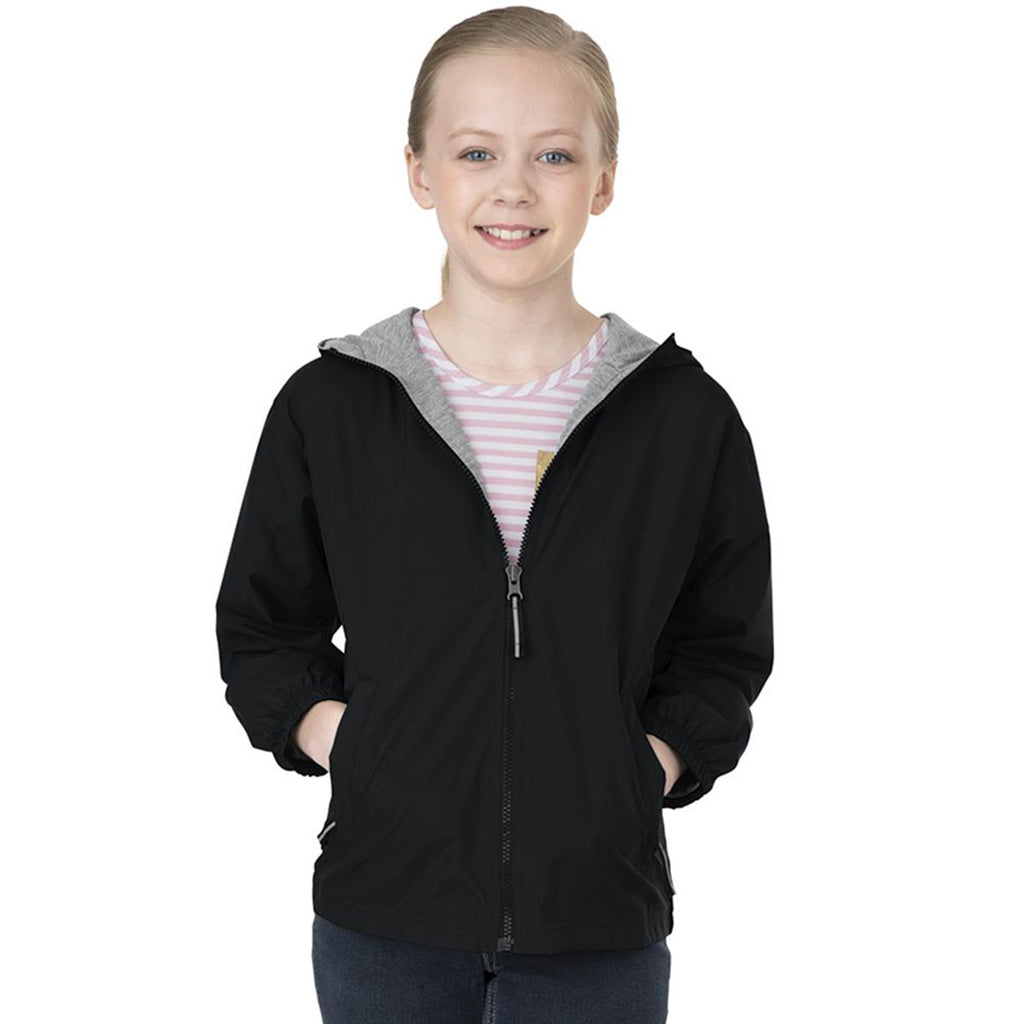 Charles River Youth Black Portsmouth Jacket