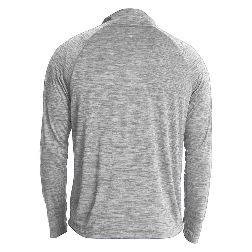 Charles River Youth Grey Space Dye Performance Pullover