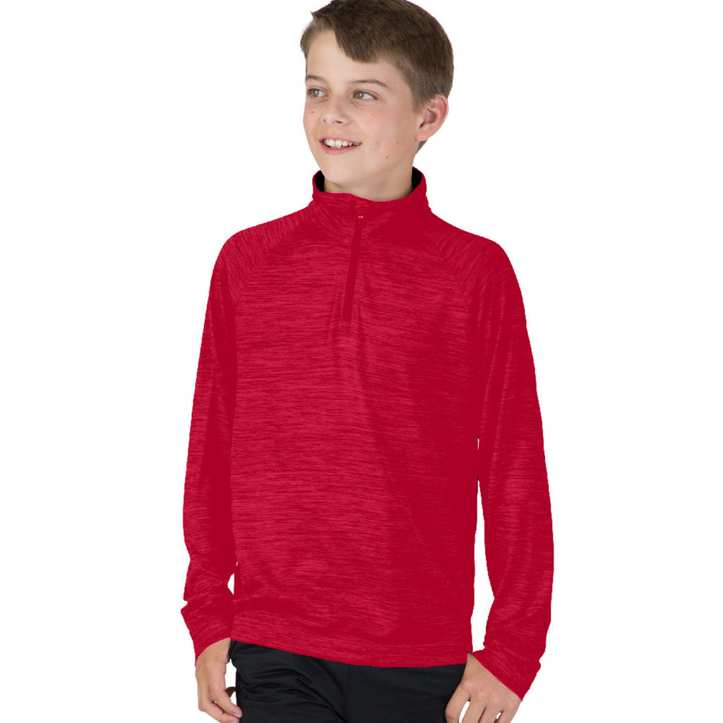 Charles River Youth Red Space Dye Performance Pullover