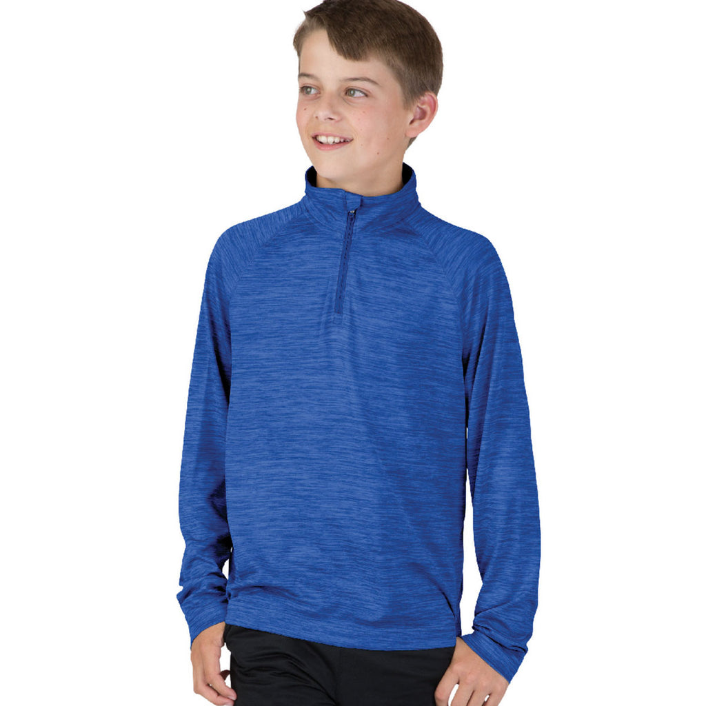 Charles River Youth Royal Space Dye Performance Pullover