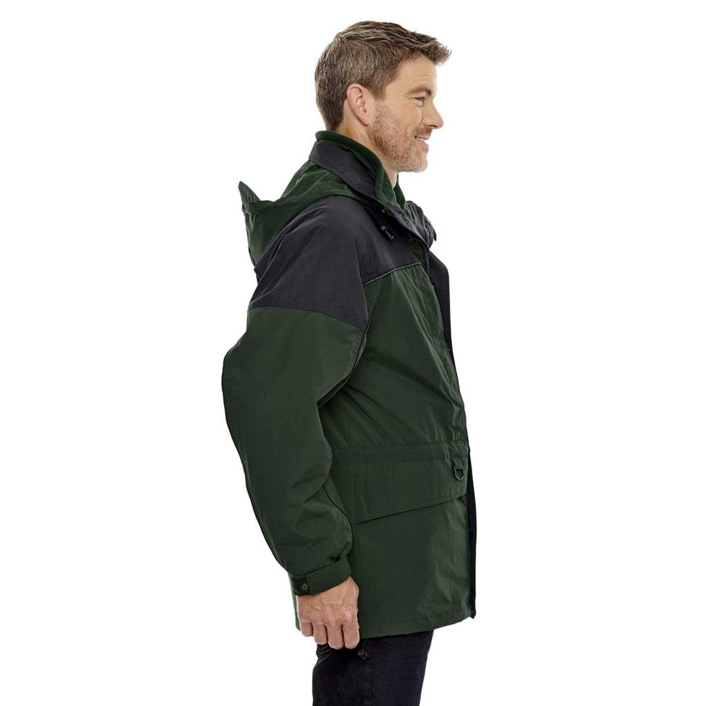 North End Men's Alpine Green 3-in-1 Two-Tone Parka