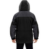 North End Men's Black 3-in-1 Two-Tone Parka