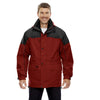 North End Men's Molten Red 3-in-1 Two-Tone Parka