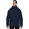 North End Men's Midnight Navy 3-in-1 Parka with Dobby Trim