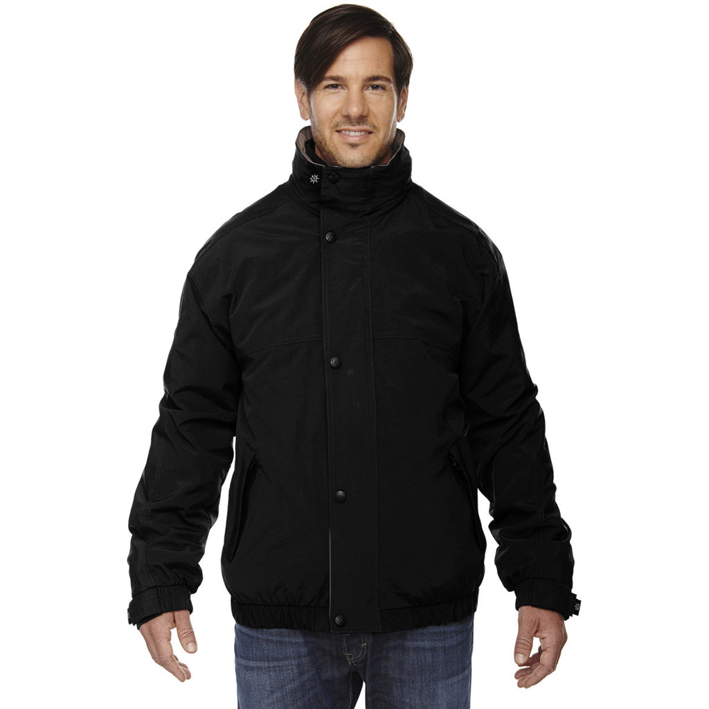 North End Men's Black 3-in-1 Bomber Jacket