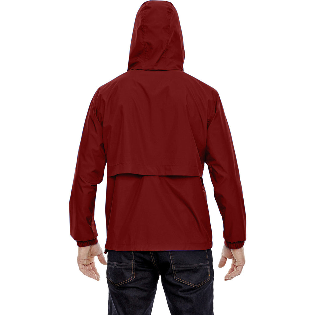 North End Men's Molten Red Techno Lite Jacket