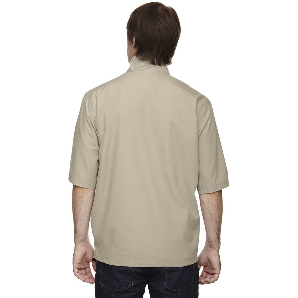North End Men's Putty M·I·C·R·O Plus Lined Wind Shirt with Teflon