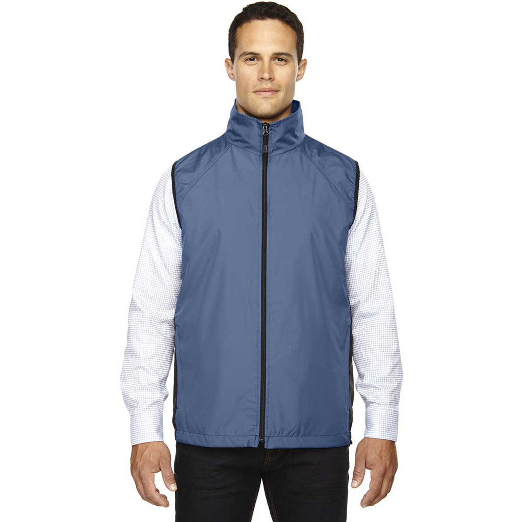 North End Men's Glacier Blue Techno Lite Activewear Vest