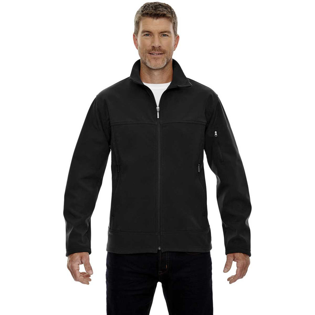 North End Men's Black Three-Layer Bonded Performance Jacket