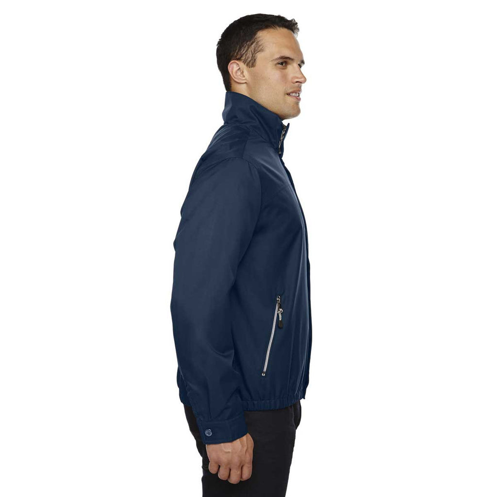 North End Men's Midnight Navy Bomber Micro Twill Jacket