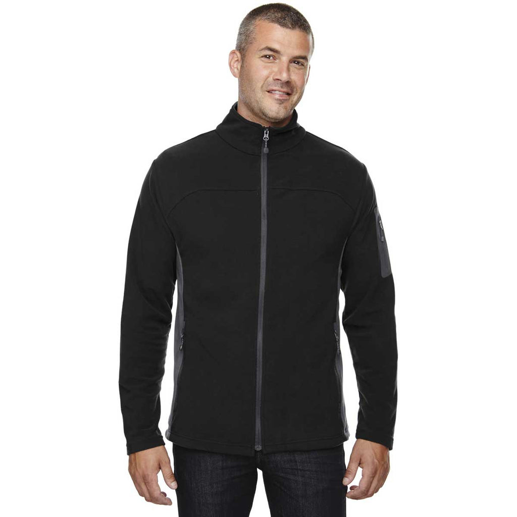North End Men's Black Microfleece Jacket
