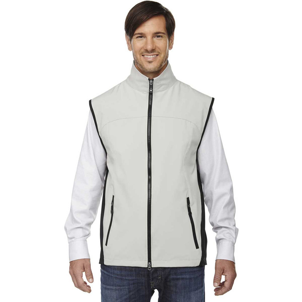 North End Men's Natural Stone Three-Layer Light Bonded Performance Vest