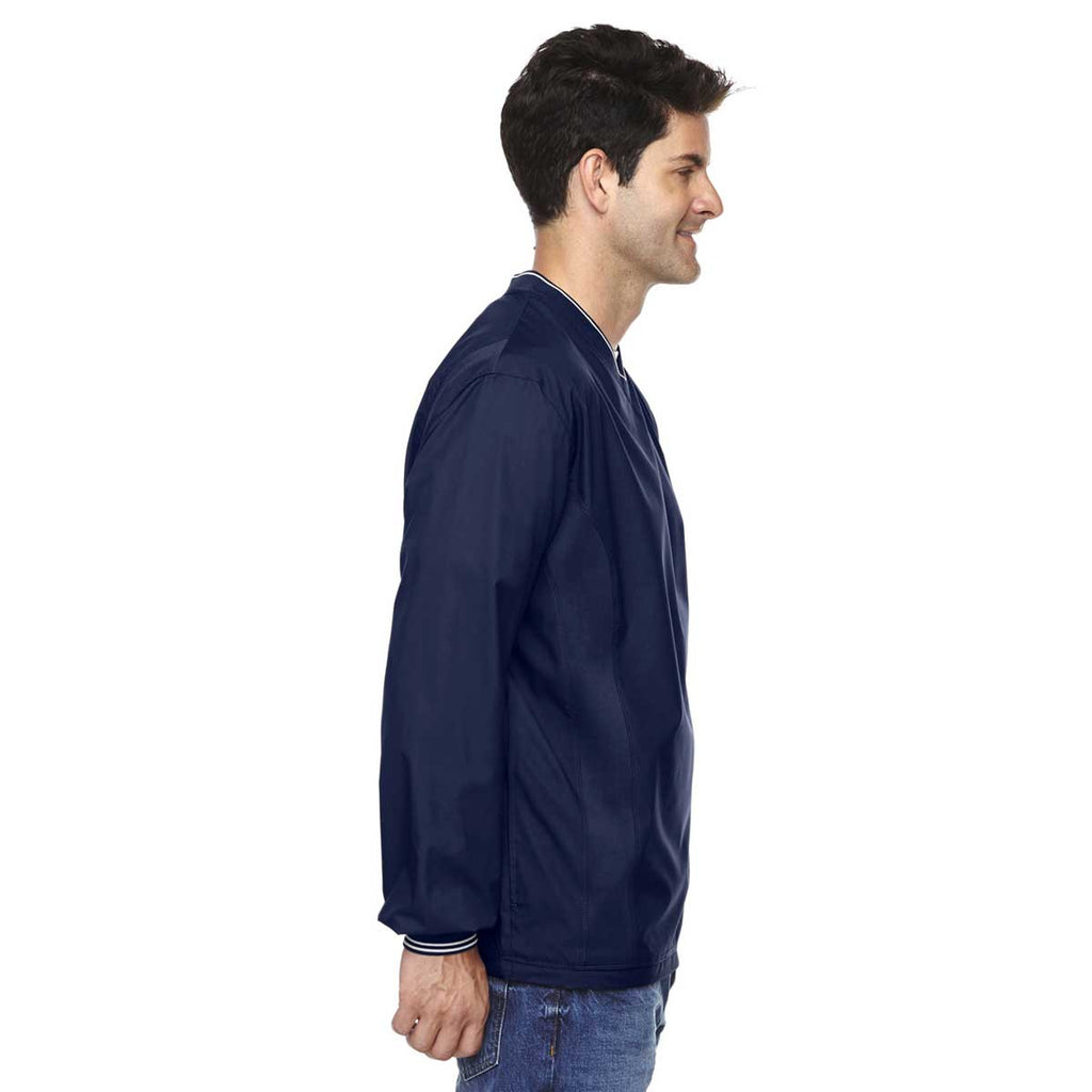 North End Men's Classic Navy V-Neck Unlined Wind Shirt
