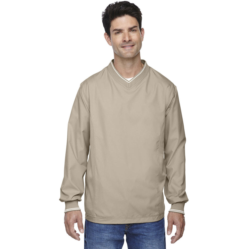 North End Men's Putty V-Neck Unlined Wind Shirt