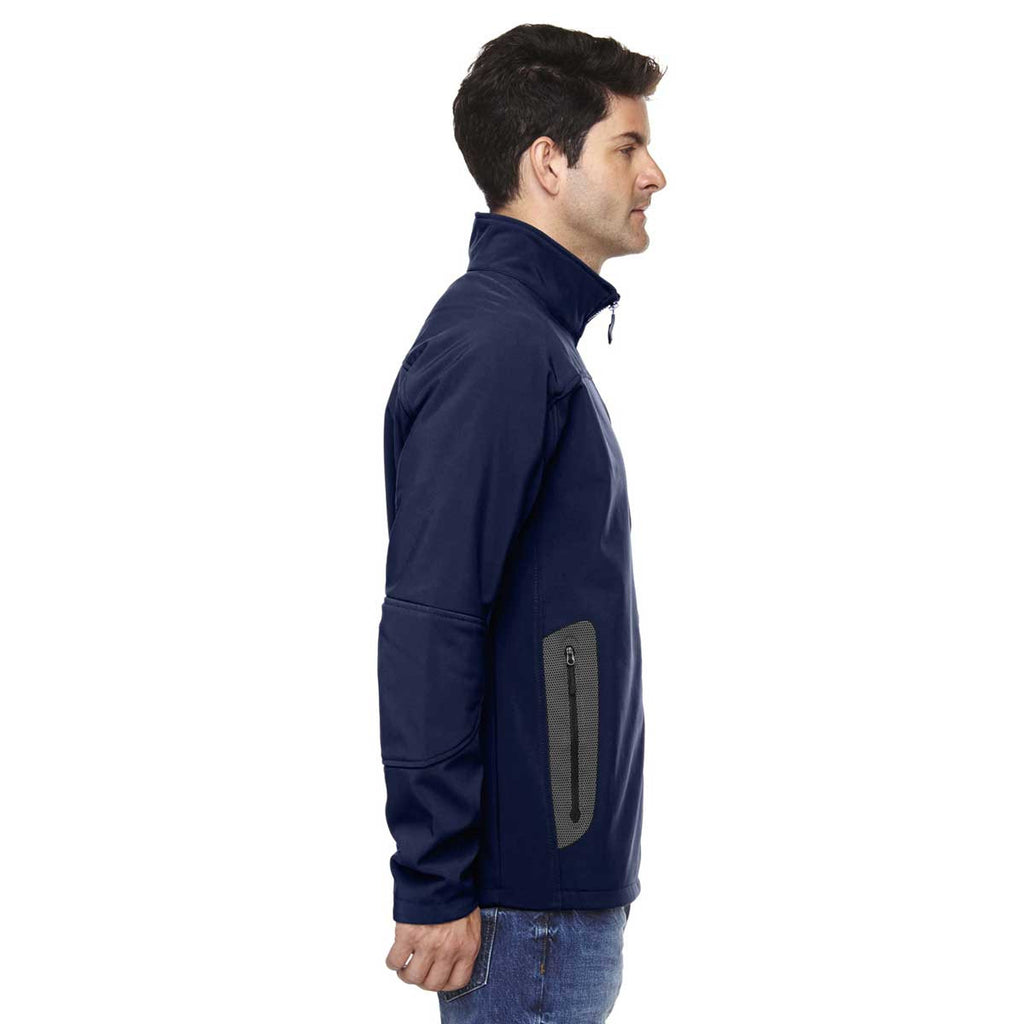 North End Men's Classic Navy Three-Layer Fleece Technical Jacket