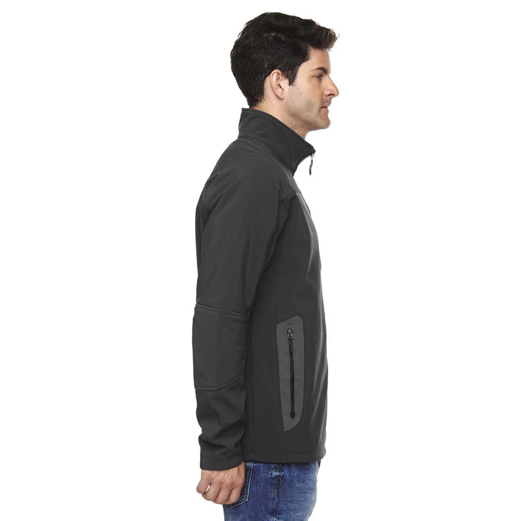North End Men's Graphite Three-Layer Fleece Technical Jacket