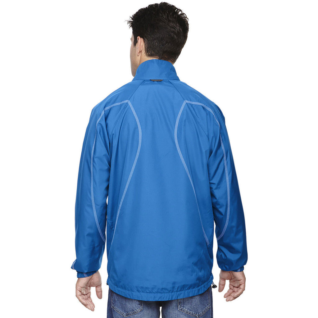 North End Men's Nautical Blue Endurance Lightweight Colorblock Jacket