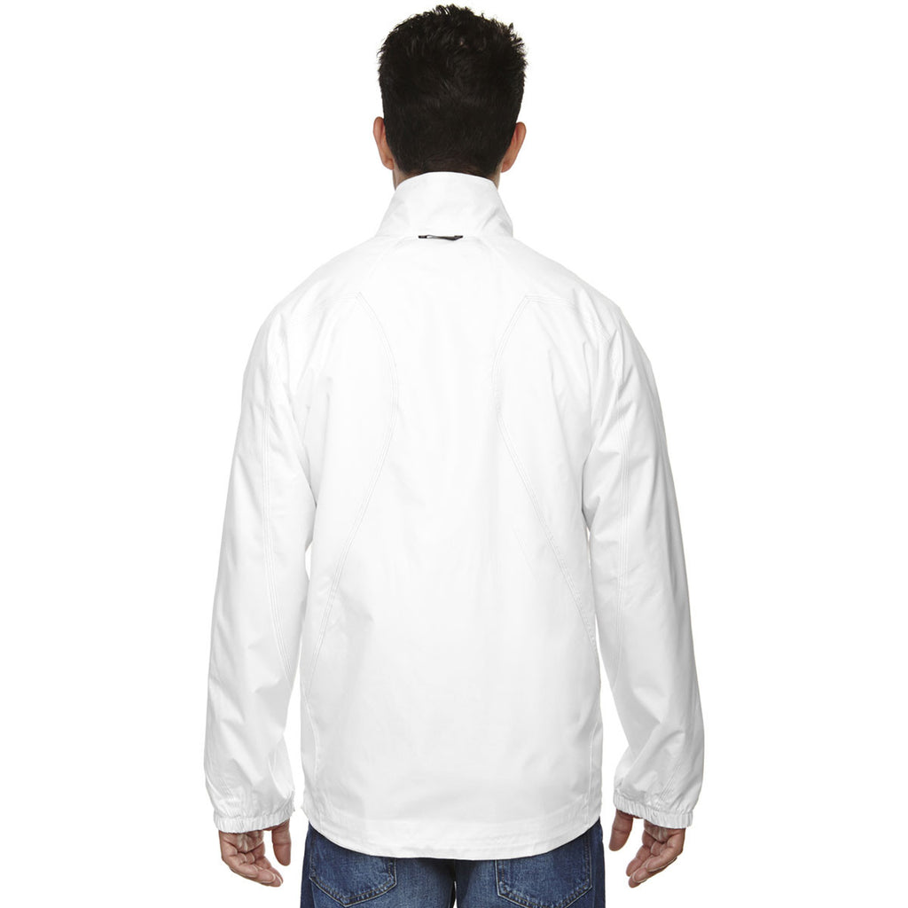 North End Men's White Endurance Lightweight Colorblock Jacket