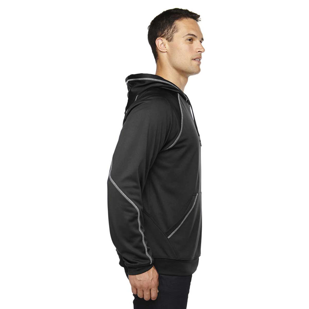 North End Men's Black Pivot Performance Fleece Hoodie