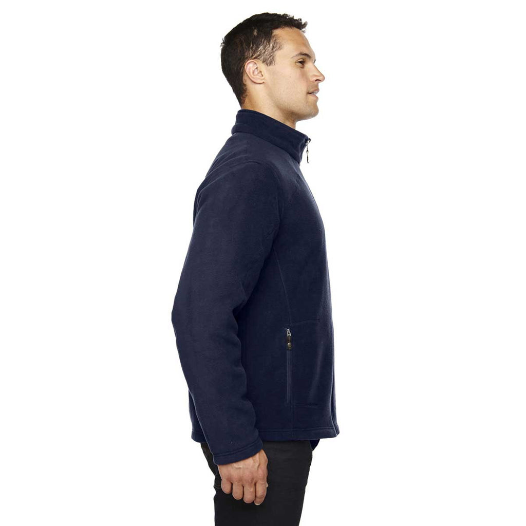 North End Men's Classic Navy Tall Voyage Fleece Jacket