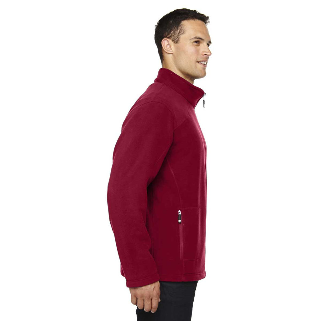 North End Men's Classic Red Voyage Fleece Jacket