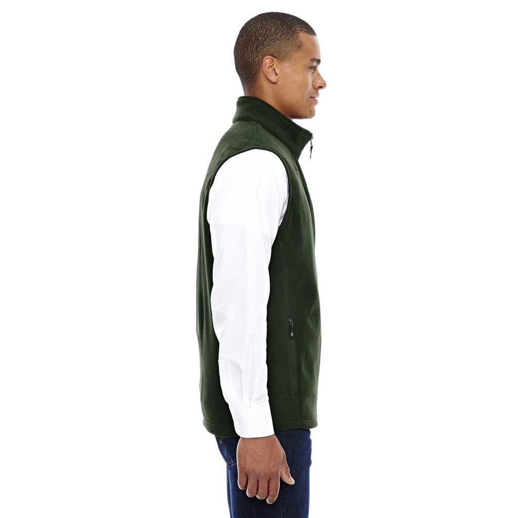 North End Men's Forest Green Voyage Fleece Vest