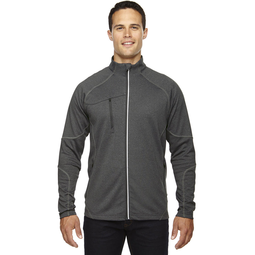 North End Men's Carbon Heather Gravity Performance Fleece Jacket