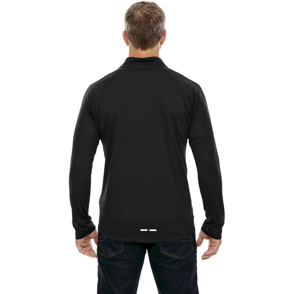 North End Men's Black Radar Half-Zip Performance Long-Sleeve Top