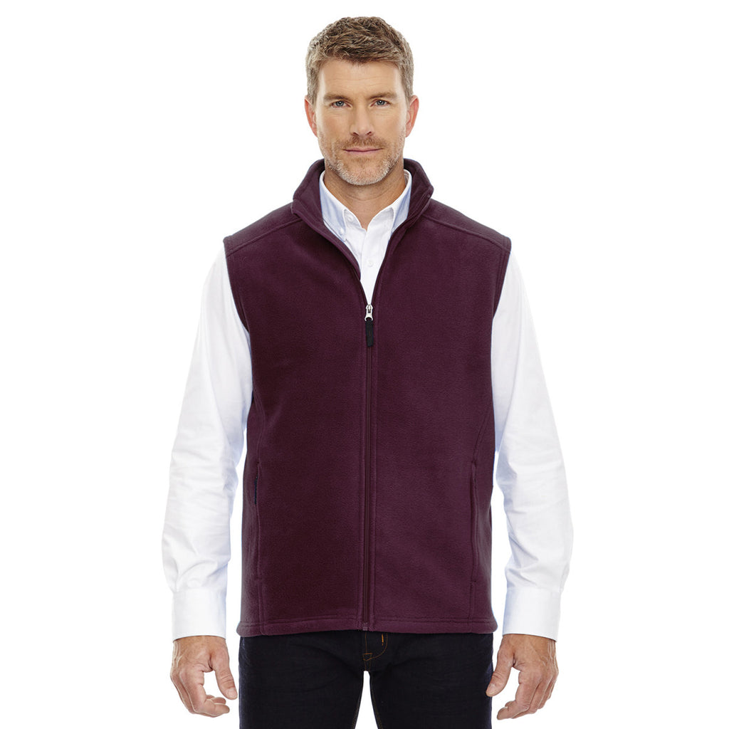 Core 365 Men's Burgundy Journey Fleece Vest