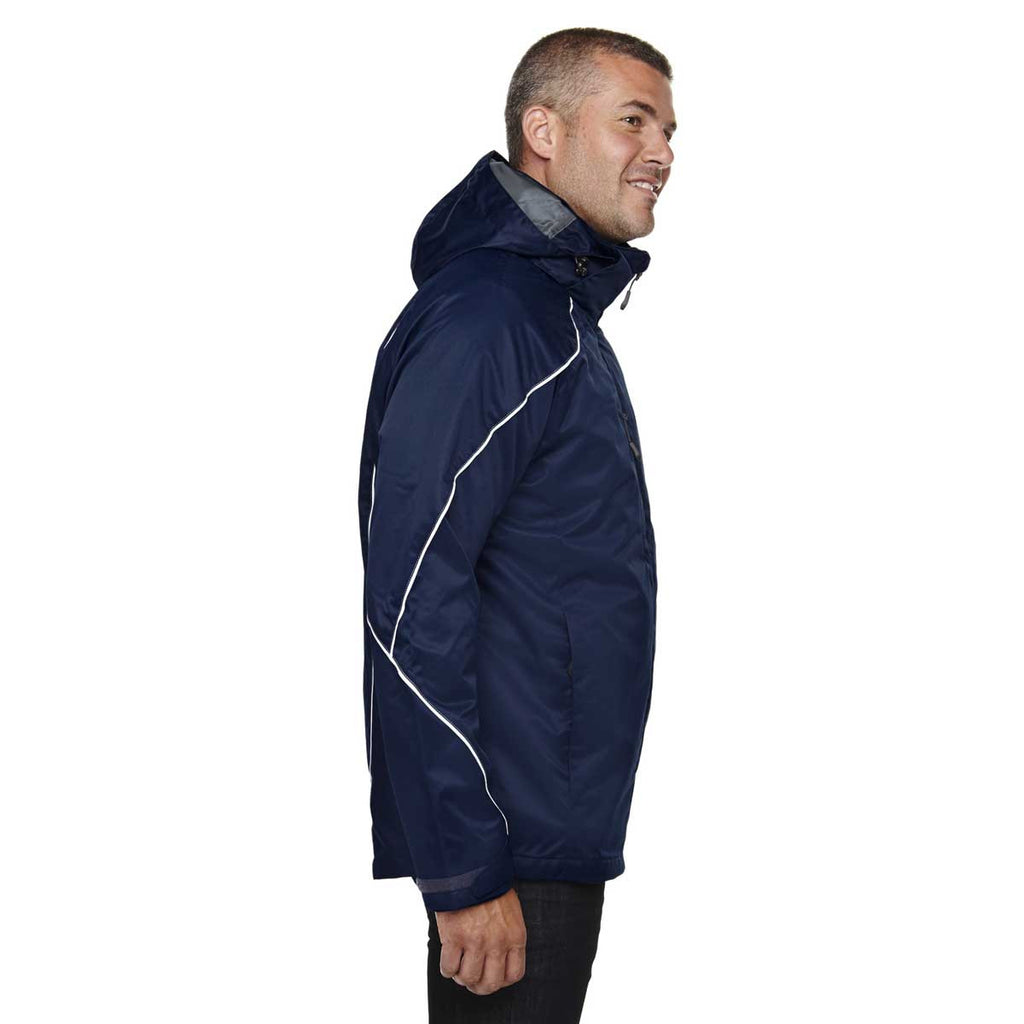 North End Men's Night Angle 3-In-1 Jacket with Bonded Fleece Liner
