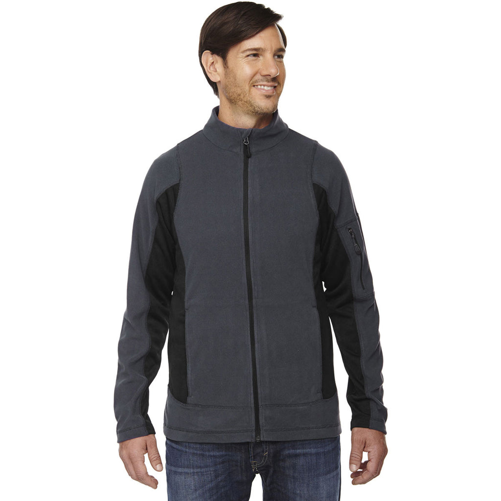 North End Men's Carbon Generate Textured Fleece Jacket