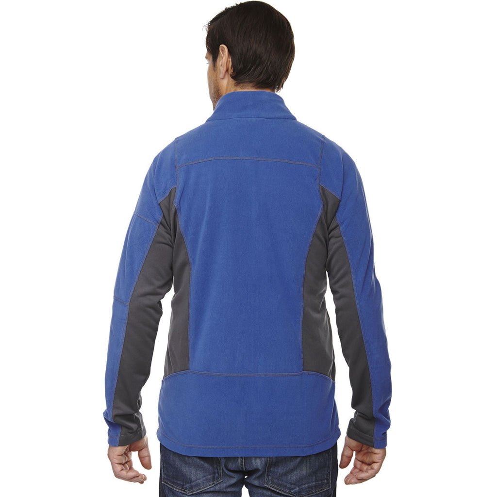 North End Men's Nautical Blue Generate Textured Fleece Jacket