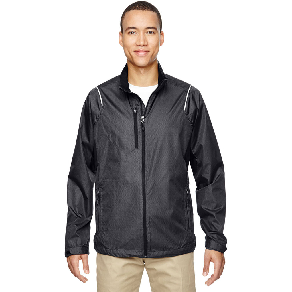 North End Men's Carbon Sustain Lightweight Dobby Jacket with Print
