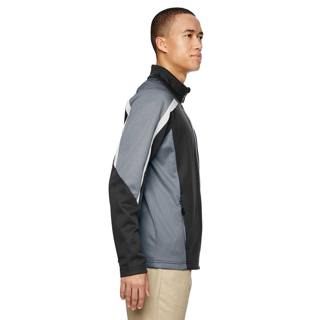 North End Men's Carbon Strike Colorblock Fleece Jacket