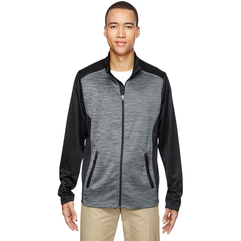 North End Men's Black Shuffle Performance Interlock Jacket