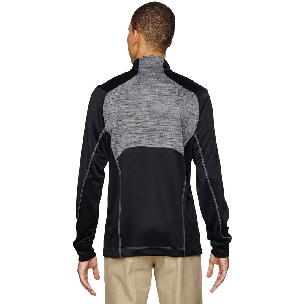 North End Men's Black Conquer Performance Interlock Half-Zip Top