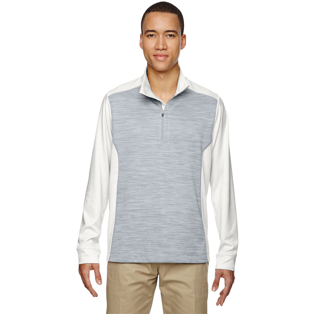North End Men's Crystal Quartz Conquer Performance Interlock Half-Zip Top