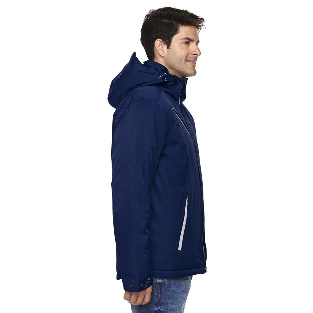 North End Men's Night Rivet Textured Twill Insulated Jacket