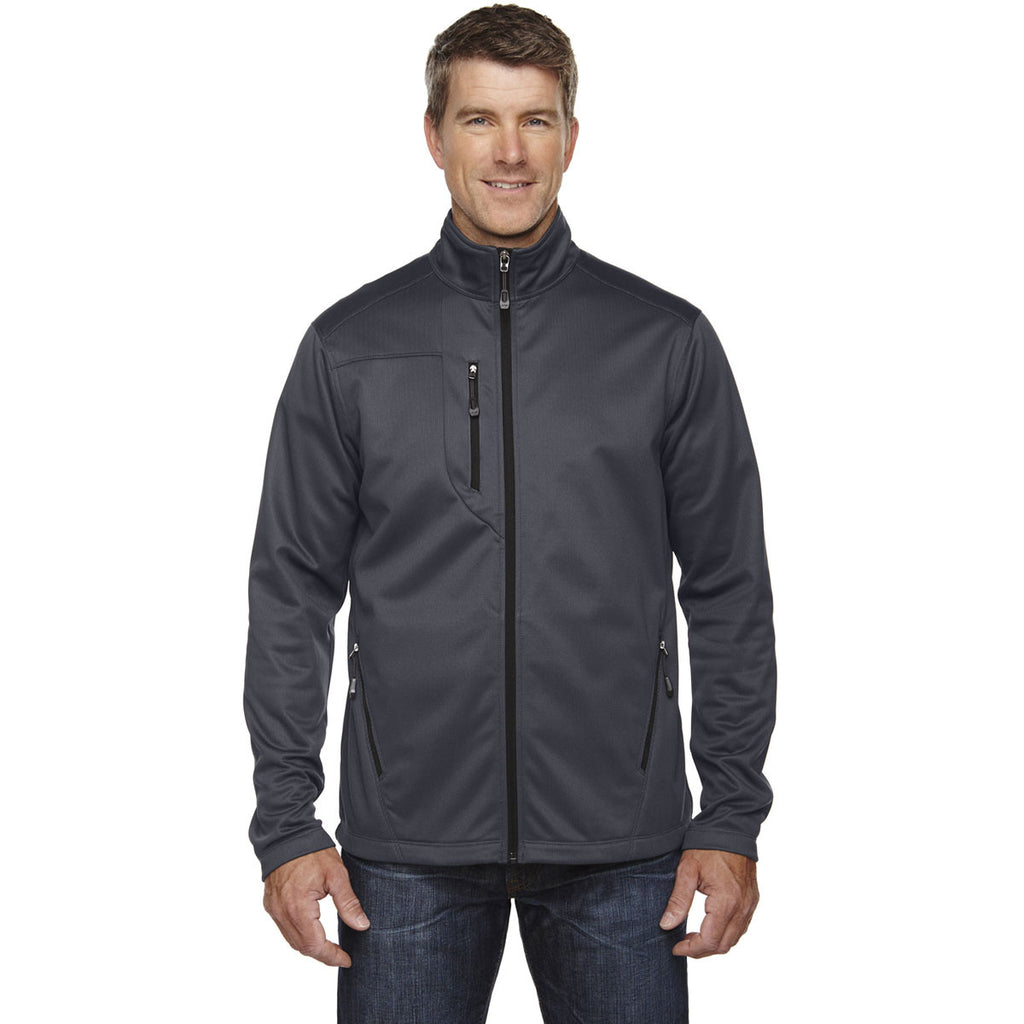 North End Men's Carbon Trace Printed Fleece Jacket