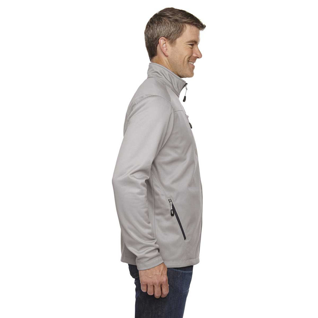 North End Men's Platinum Trace Printed Fleece Jacket