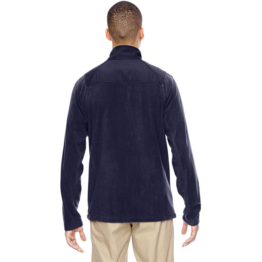 North End Men's Navy Excursion Trail Fabric-Block Fleece Jacket
