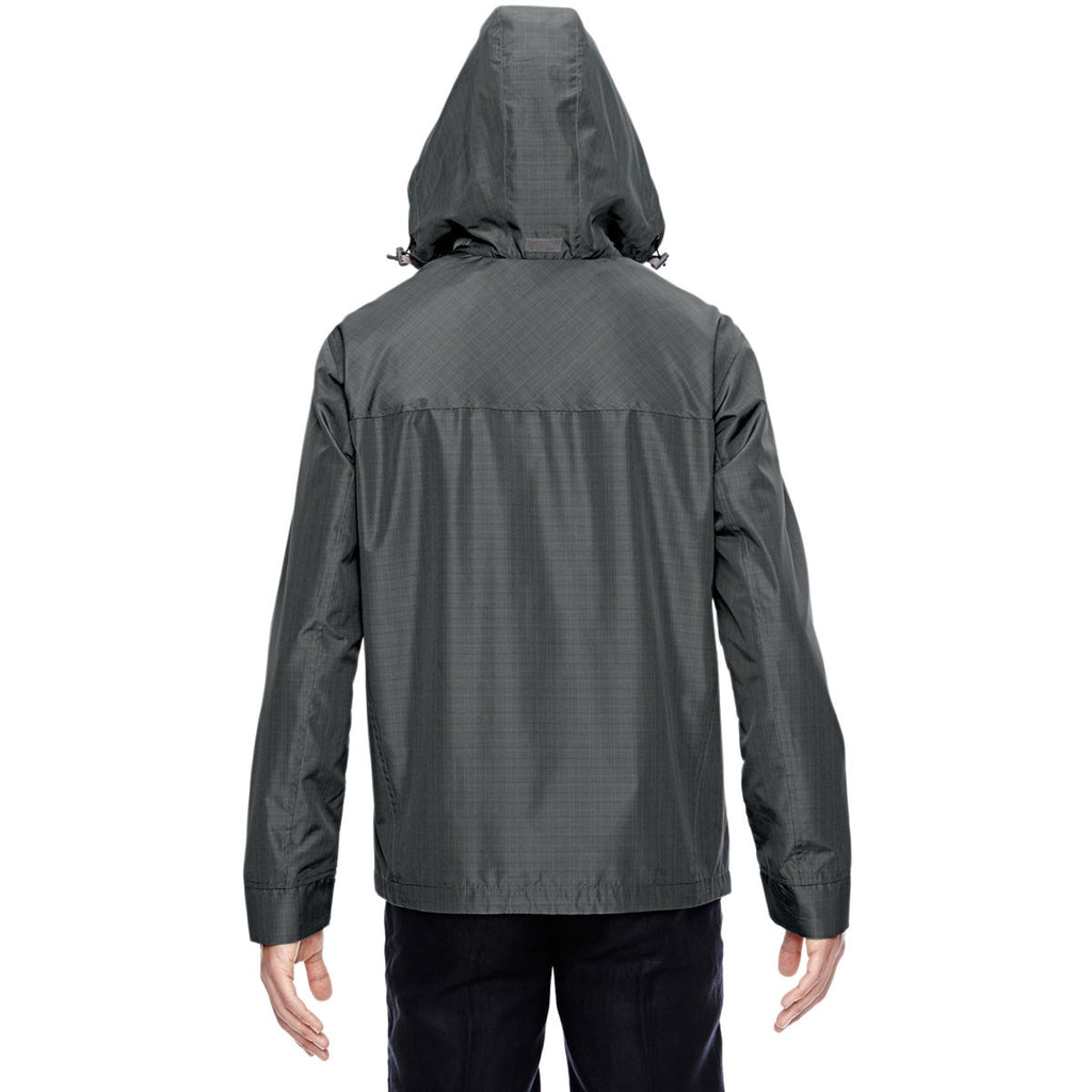 North End Men's Graphite Excursion Transcon Lightweight Jacket with Pattern