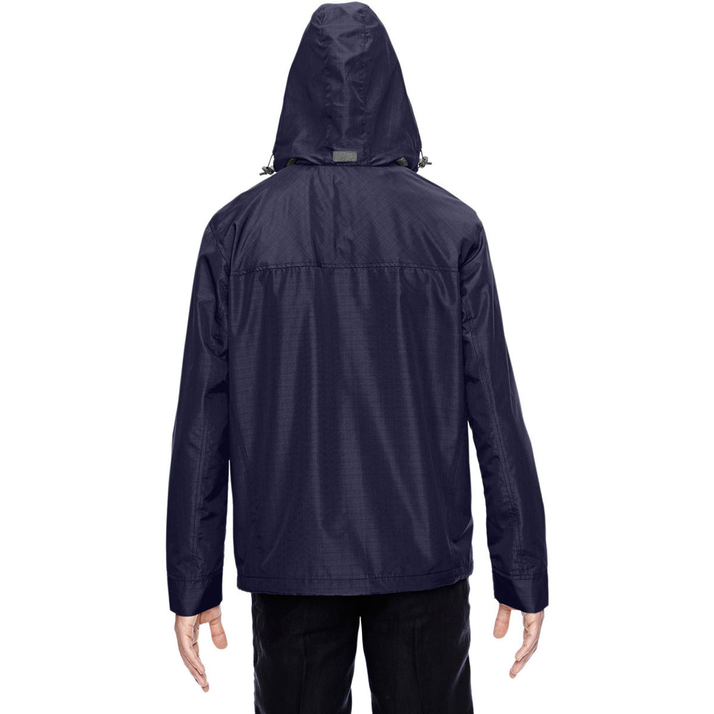North End Men's Navy Excursion Transcon Lightweight Jacket with Pattern