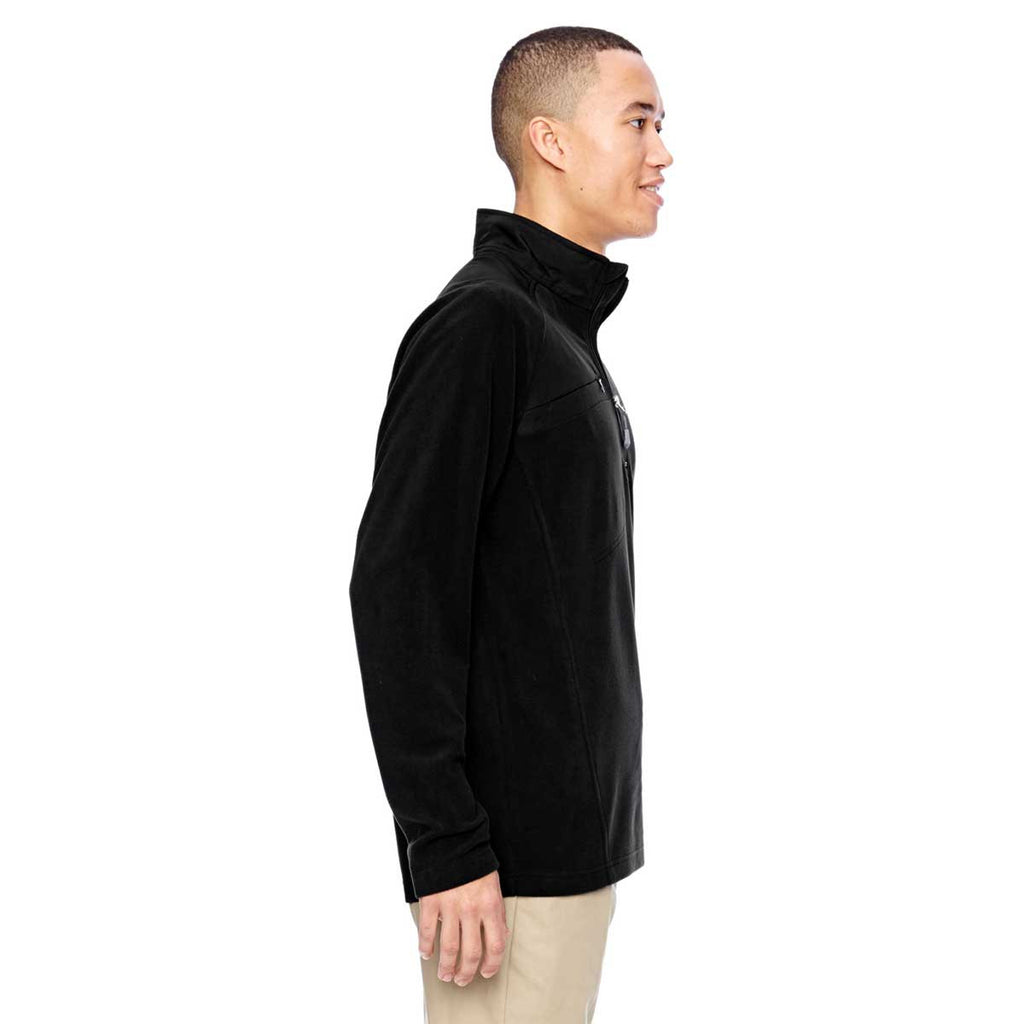 North End Men's Black Excursion Fleece Half-Zip