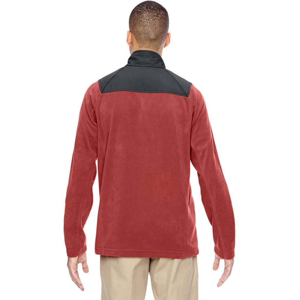 North End Men's Rust Excursion Fleece Half-Zip