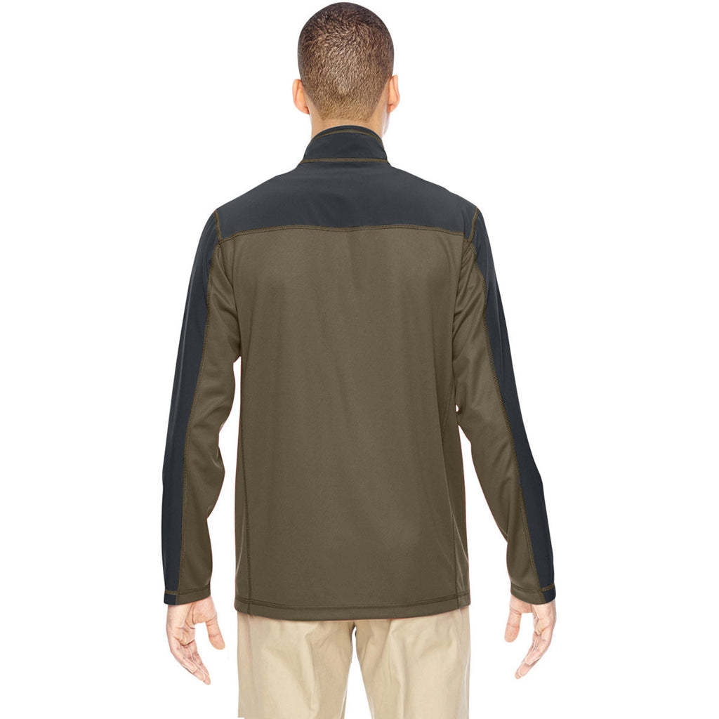 North End Men's Dark Oakmoss Excursion Circuit Performance Half-Zip