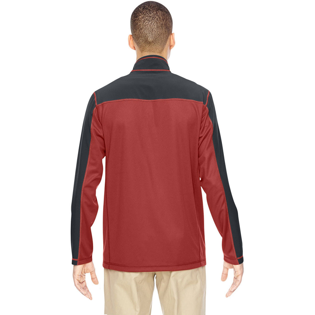 North End Men's Rust Excursion Circuit Performance Half-Zip