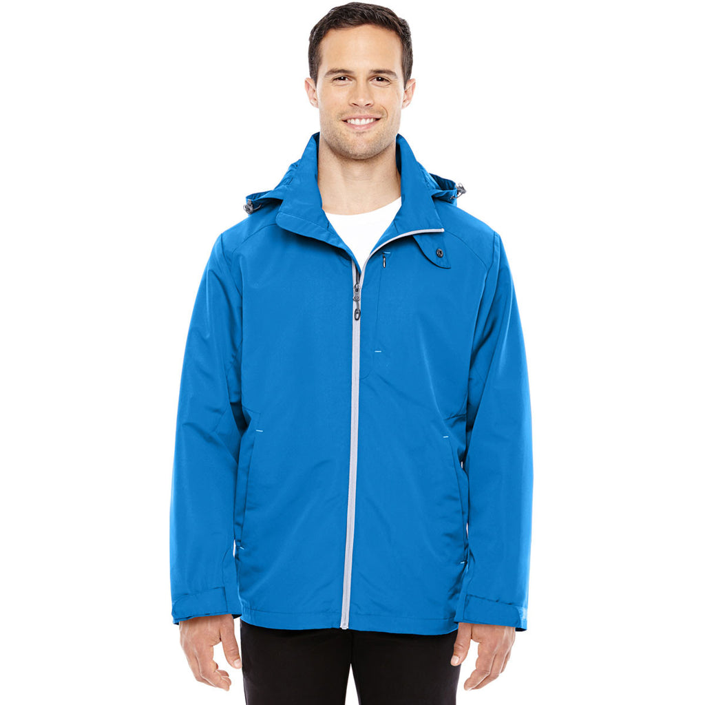 North End Men's Nautical Blue/Platinum Insight Interactive Shell Jacket
