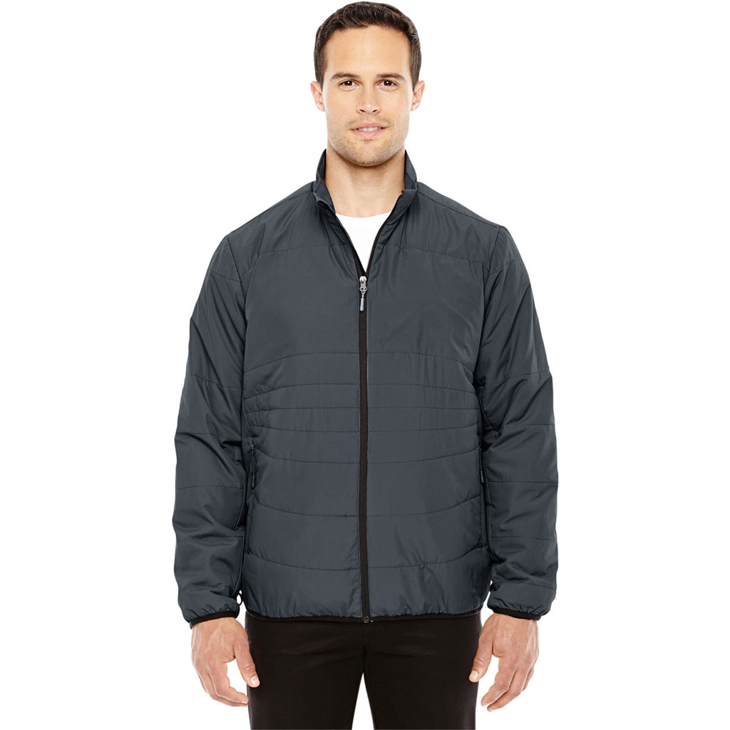 North End Men's Graphite/Black Resolve Interactive Insulated Packable Jacket