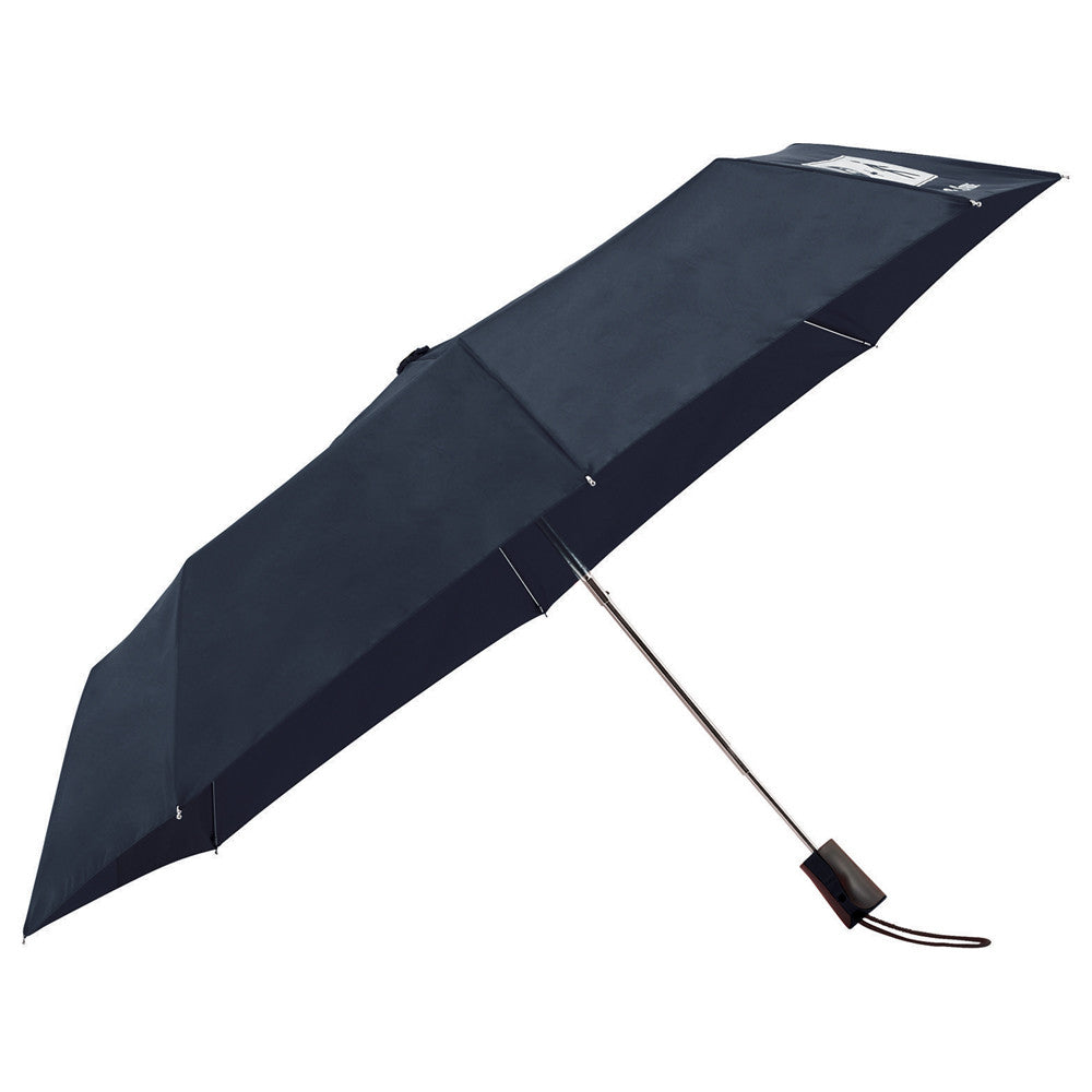 "Totes Navy 42"" 3 Section Auto Open Umbrella"